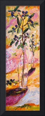 Olive Branches Still Life Original Oil Painting by