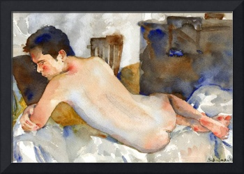 Blue Nude, Male Nude Art