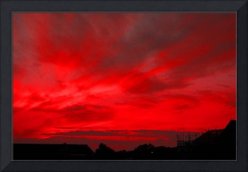 RED FIRE SUNSET, ISLE OF MAN