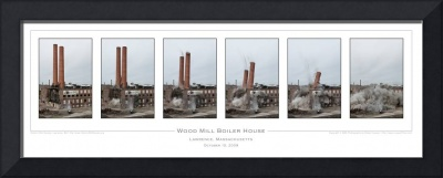 Wood Mill Smokestacks
