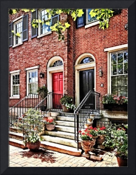 Philadelphia PA - Townhouse With Red Geraniums