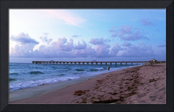 Juno Beach Pier Florida Sunrise Seascape C7