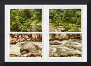 Mountain Stream Whitewash  Window View