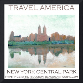 New York Central Park poster by Riccoboni