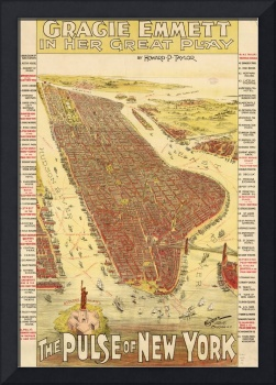 Vintage Pictorial Map of New york City (1891)