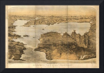 1876 San Francisco, CA Bird's Eye View Panoramic M