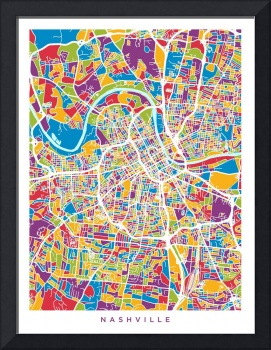 Nashville Tennessee City Map