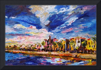 Battery Charleston South Carolina Oil Painting by