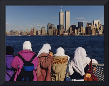 Children in Awe of the World Trade Center