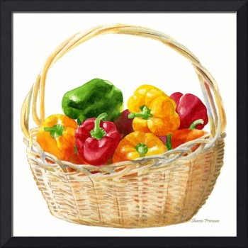 Basket of Peppers, Square Design