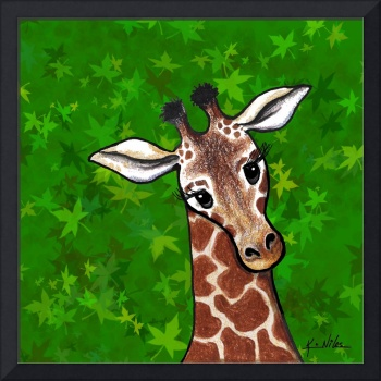 Giraffe In Green