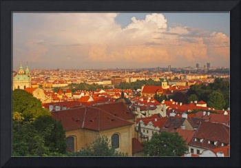 View Of Prague Rooftops From Castle Hill Prague,