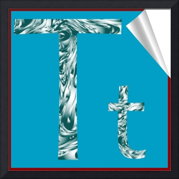 alphabet letter T sticker