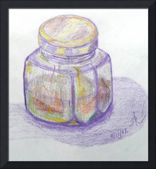 Colored Pencil Glass Jar Study 2007
