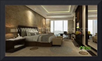 3D Classic Bedroom Interior Design