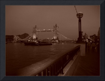 Tower Bridge at Night (Sepia)