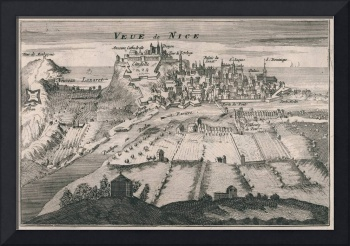 Vintage Pictorial Map of Nice France (1692)
