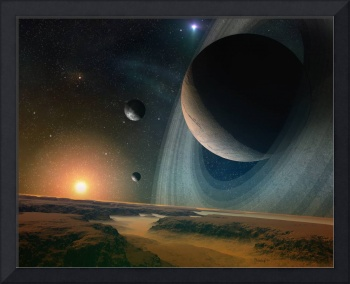 Planet scape - space art