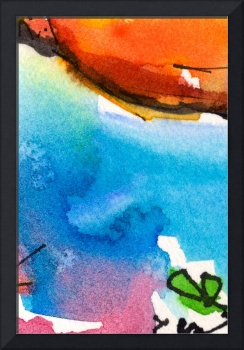 Intuitive Abstract Watercolor #0101C by Ginette
