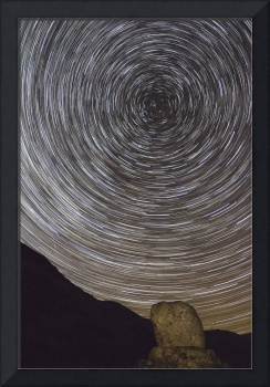 Star Trails Over Bruce's Stone