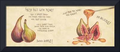 Fresh Figs with Honey by Johanna Bailey