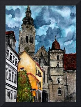 Coburg Germany Castle Painting