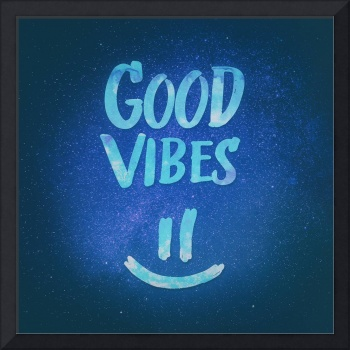 Good Vibes - Funny Smiley Statement / Happy Face (