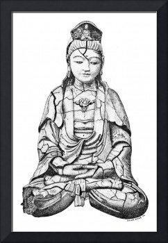Stipple Pen and Ink QuanYin