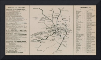 London Underground map (engraving)
