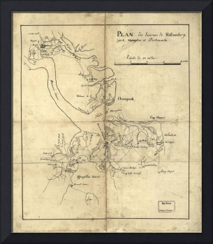 Vintage Newport News and Hampton Roads Map (1800)