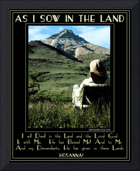 Poster- As I Sow In The Land