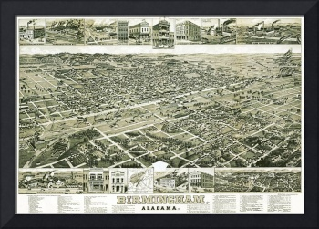 Birmingham Alabama Panoramic Map