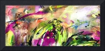 Abstract Arti 4 Watercolor & Ink By Ginette