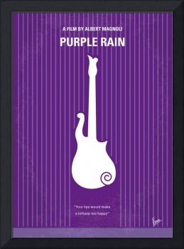 No124 My PURPLE RAIN minimal movie poster