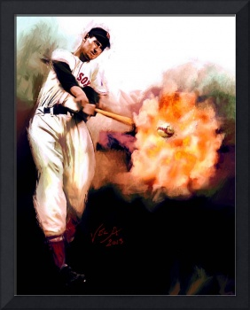 Ted Williams MLB Boston Red Sox Art