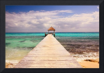 Boardwalk Dock and Caribbean Sea, Playa Del Carmen