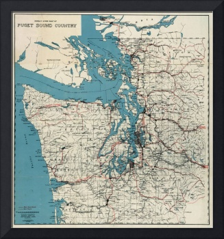 Vintage Map of The Puget Sound (1919)