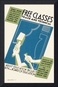 Free Classes, Trade and Technical (1936-41)