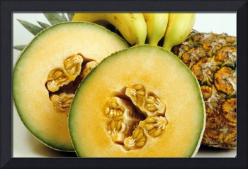 Fruit with Cantaloupe, Bananas, and Pineapple