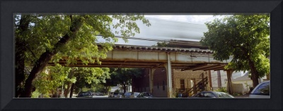 Elevated train on a bridge Ravenswood neighborhoo