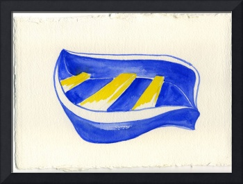 boat blue and yellow