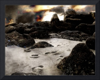 Footsteps in the Sand, v.3, Edit F, a Sci-Fi Photo