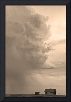 Gobbled Up By A Storm Sepia