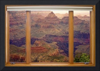 Colorful Grand Canyon Modern Wood Picture Window