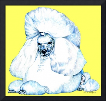 Toy Poodle Yellow Pop Art