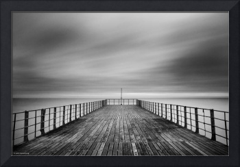 End of the pier - B&W