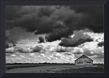 stormcloud over barn