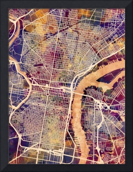 Philadelphia Pennsylvania City Street Map