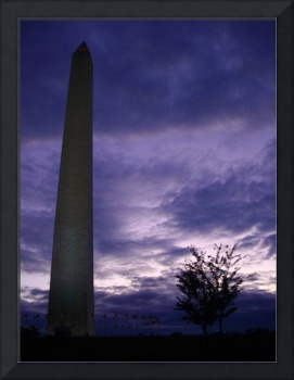 beautiful clouds over The Washington Monument