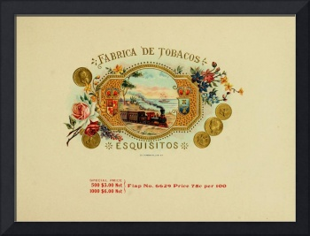 cigar box label